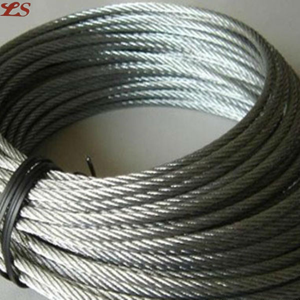 19x7 galvanized steel wire rope 10mm