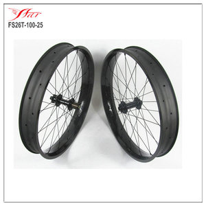 Hot fat bike 26er carbon fat bike wheel 100mm 90mm 80mm fat bike rim with Bitex FB hub 32H