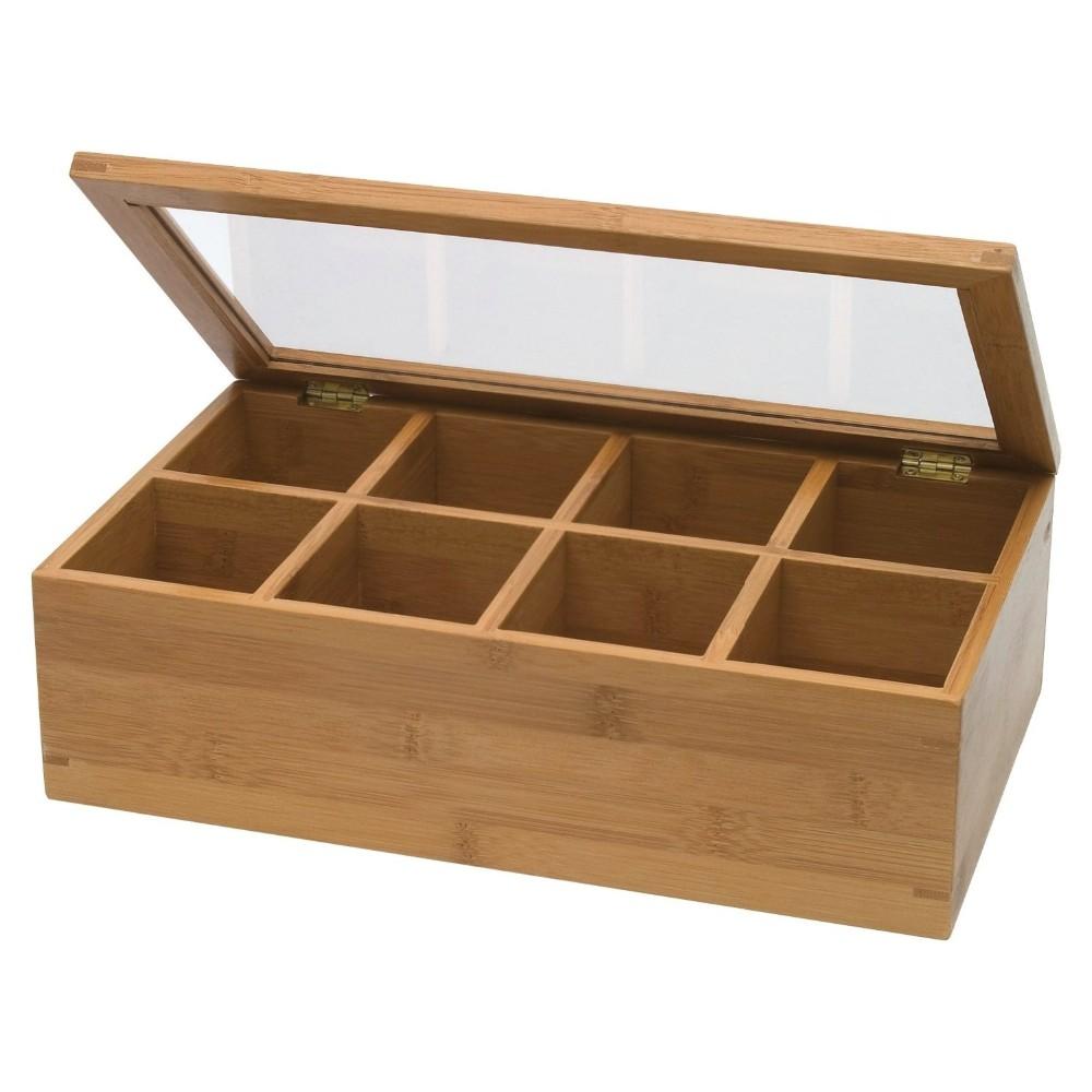 10 Compartments Bamboo Wooden Organic Tea Storage Box Set