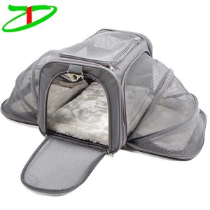 Outdoor Small Animal Puppy Dog Cat Pets Carry Bag Airline Approved Soft Sided Expandable Pet Carrier