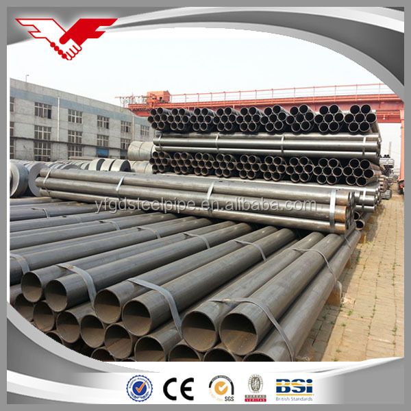 1/2''-12'' steam pipeline /gas pipe hot rolled erw welded steel pipe 26 black ms round pipe