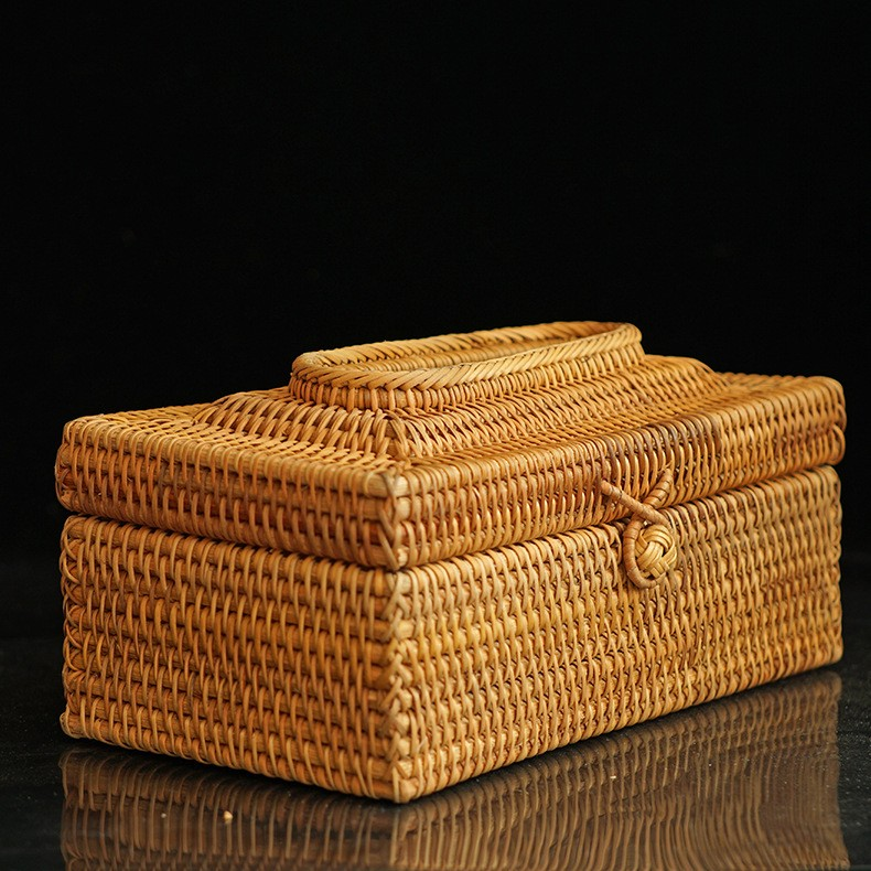 Top quality wicker tissue boxes paper holder for hotel