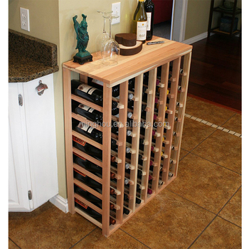 54 Bottle Solid Pine Wood Wine Rack Diy Cardboard