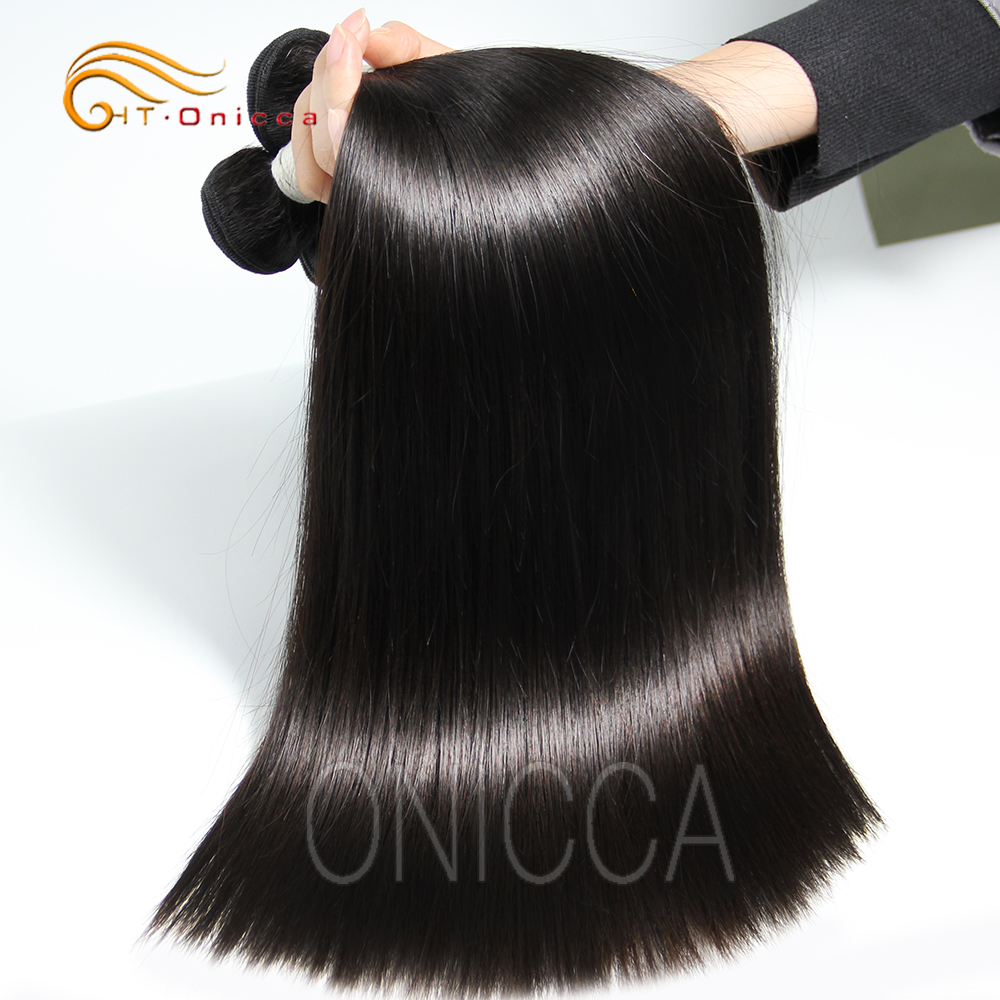 Best grade natural straight hair extensions Brazilian 12a virgin unprocessed cuticle aligned raw virgin hair