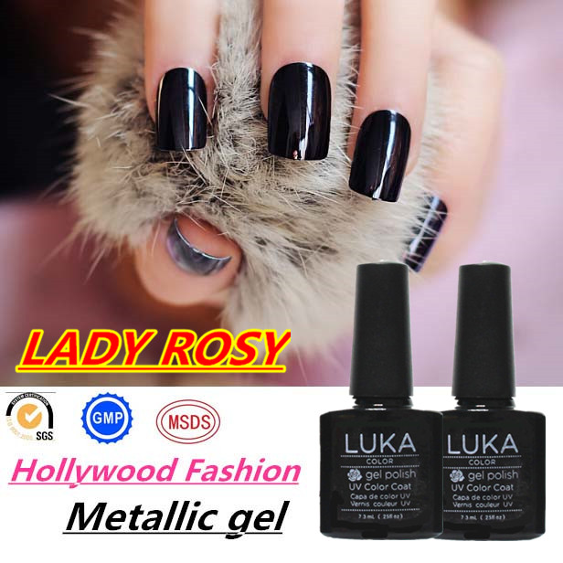 Factory direct sale nail art beauty salon use ibd nail gel polish shining clear metallic gel