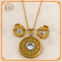The Circular Duplicate Jewelry Wedding jewelry sets Inlay Zircon
