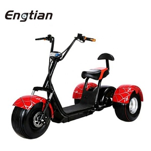 Adults Mini Electric Tricycle Passenger 3 Three Wheels Electric Scooter for Elder CE Approval