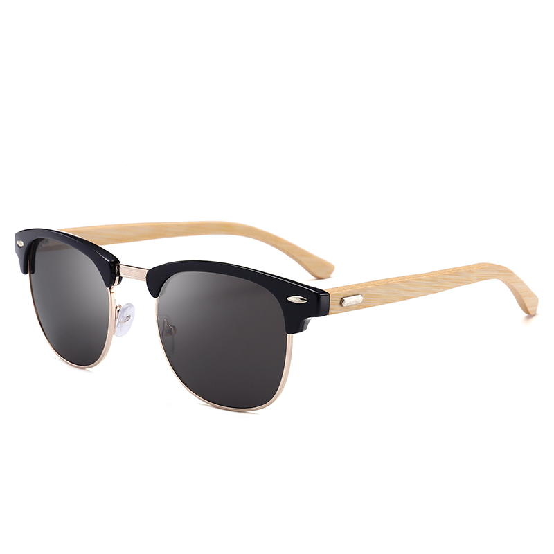 A0309 Superhot Eyewear Custom Logo Sun glasses Polarized Bamboo Sunglasses