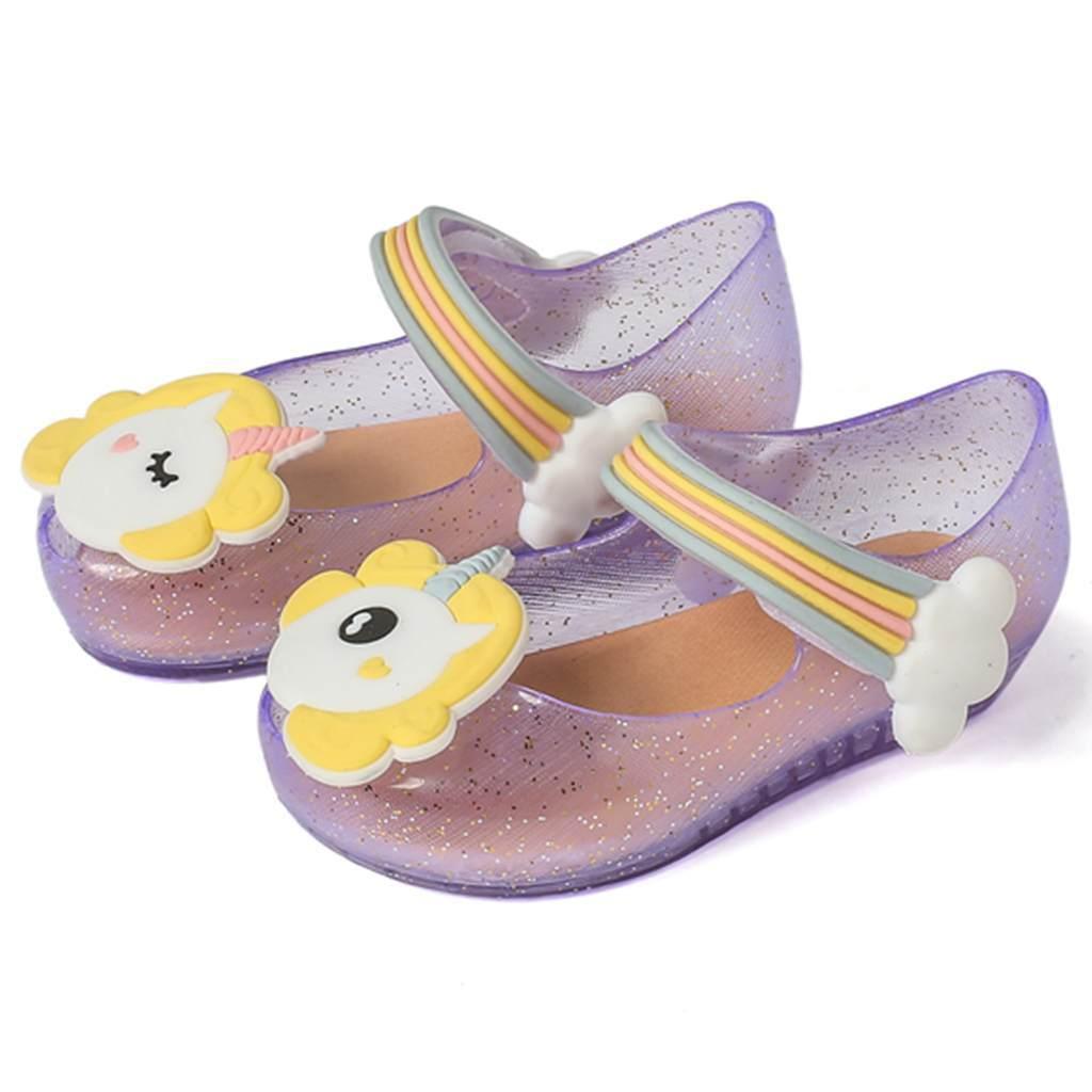 9a0c6ef222d2 2018 Unicorn Desain Gadis Sepatu Sepatu Anak-anak Musim Panas Sandal Lembut  Jelly