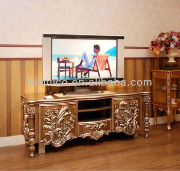 Paris Royal Tv Cabinet Stand Wooden Hand Carving Bench B50598