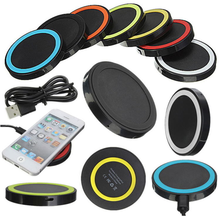Wireless Charging Pad Qi Wireless Charger with USB Port & USB Cable for IOS and Android Phone