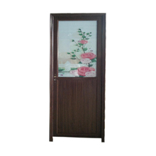 Hot sale half glass half panel aluminium door