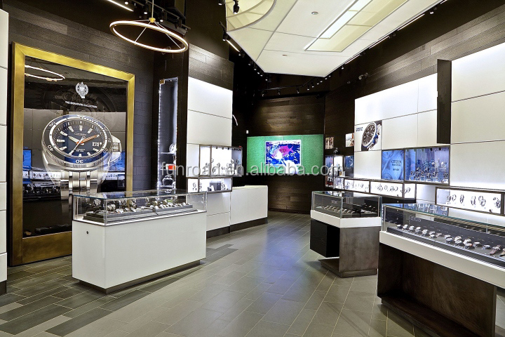 Top end brand watch showcase watch counter display
