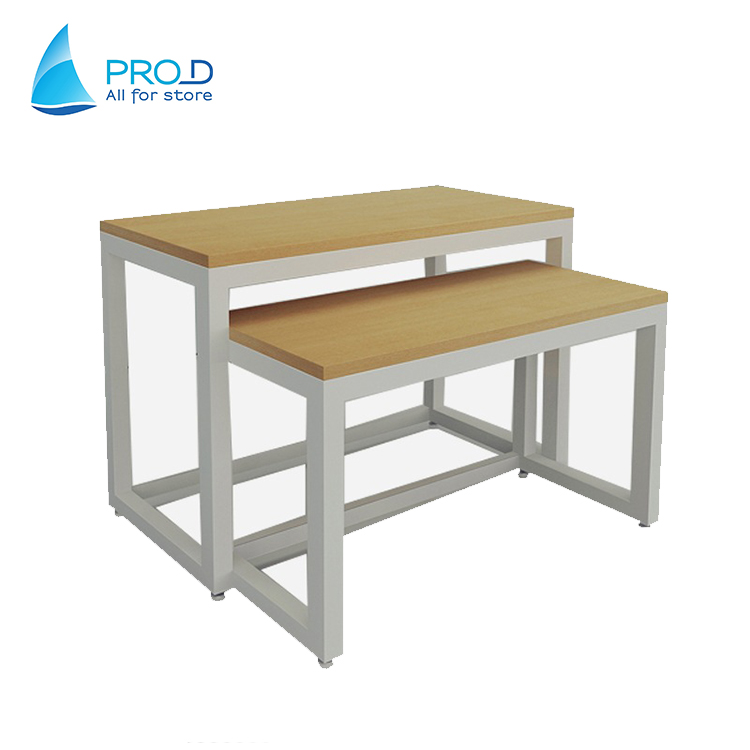 Ruilang Company Pro D Storage Metal Wood Display Rack Table