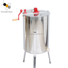 4 frames manual hand crank honey extractor/stainless steel bee honey extractor machine for sale