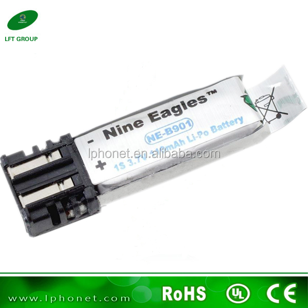 Nine Eagles Solo Pro High Capacity 1S 608039 3.7v 110mah lithium polymer battery NE4901001 lipo battery