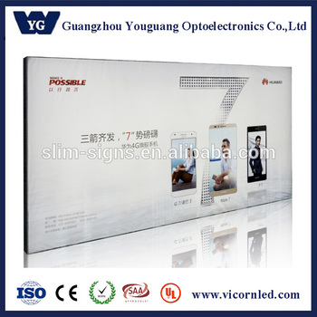 Non-frame Led Fabric Light Box | Back Lighted Wall Hanging Display ...