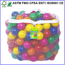 100pcs Colorful Ball Pit Balls Fun Soft Plastic Sizzlin Ocean Swim Pool Play Toy