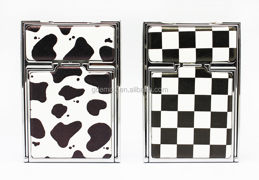 Chinese supplier leopard zebra stripes printing cosmetic pocket mirror, MG305