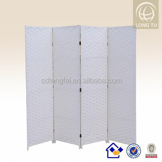 Living room rattan hand weaving folding accordion wall dividers