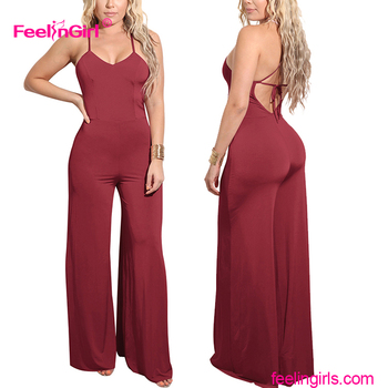 Comfortable Red Women Rompers Evening Custom Jumpsuits For Weddings