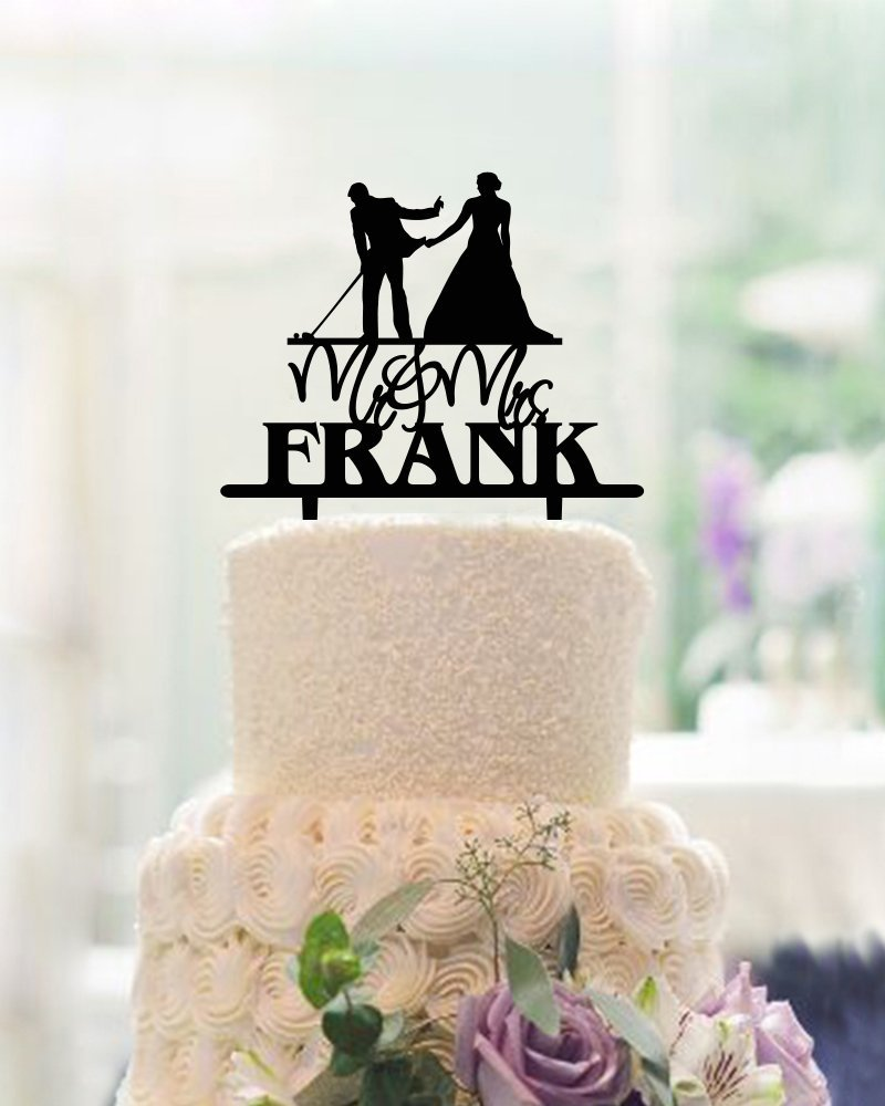 Funny Wedding Cake Toppers Bride And Groom Golf Topper