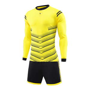 goalkeeper Top quality new model long sleeve sports keeper jersey full soccer uniform set cheap football shirts