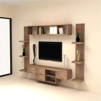 2018 Hot Wall Mounted Tv Showcase Designs Lcd Cabinet Unit