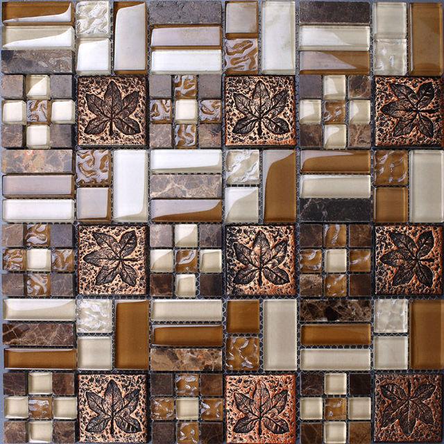 Natural Marble Tile Backsplash Porcelain Tile Flower