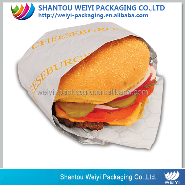 custom printed baking cake/hamburger/sandwish wrapping paper
