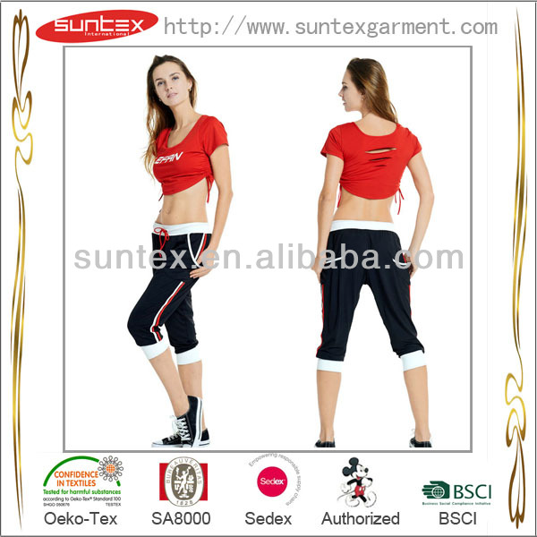 Yoga wear - Yoga top with removable cups / Yoga shirt/ Sportswear Chinese manufacture