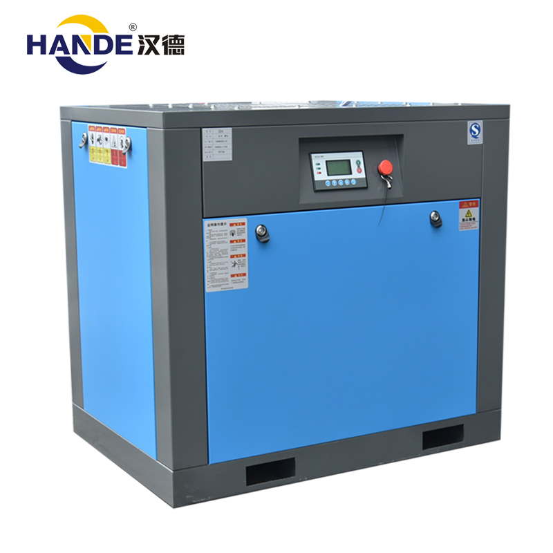 China fabrikant energiebesparende schroefcompressor 20HP 15kw vaste snelheid power frequentie luchtcompressor