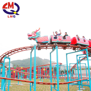 Eye catching small roller coaster high speed dragon train rides sale