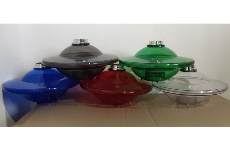 T050 Lvhe Wholesale UFO Base Shape Acrylic LED Hookah Shisha Narguile