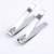 Light material factory price straight and curve stainless steel nail clippers for promotion