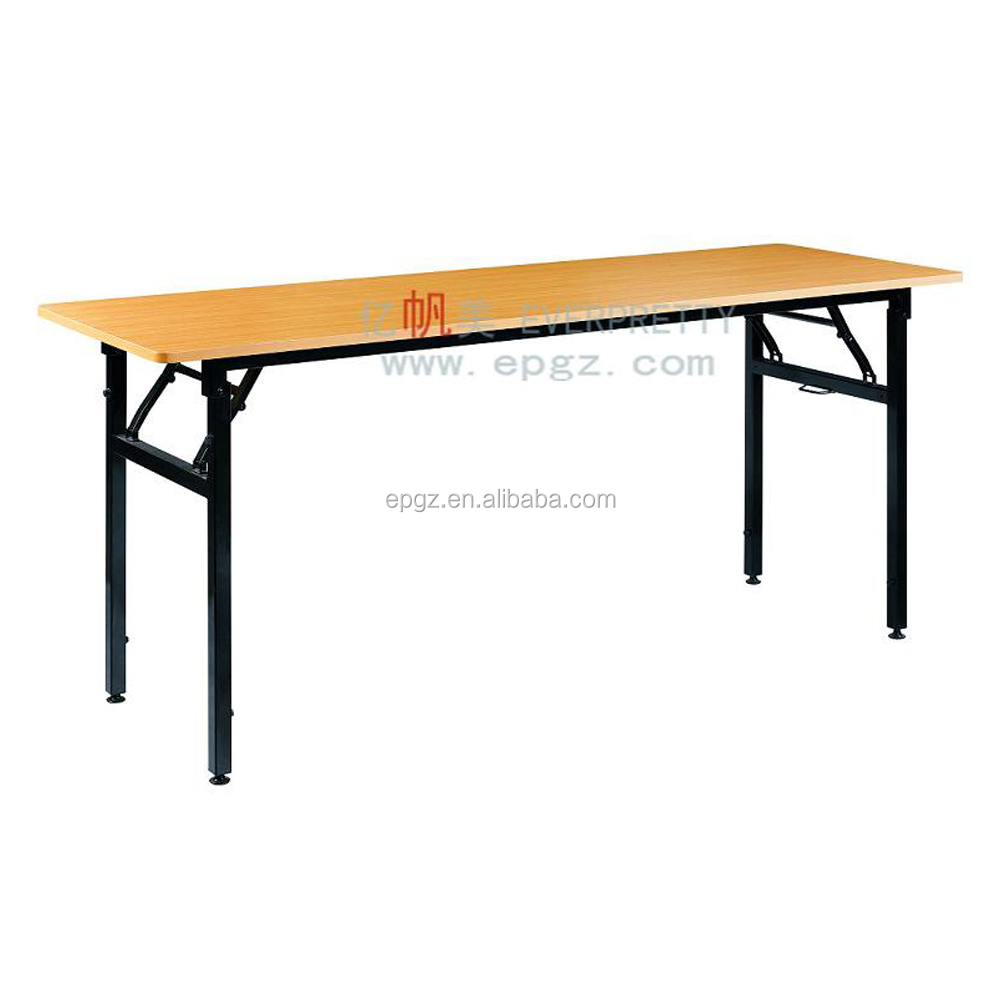- Cheap Seminar Folding Rectangle Wooden Table With Wheels - Buy