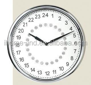 b6931f8b81d 24 hora analógico relógio de parede new design 24 hora relógio de parede