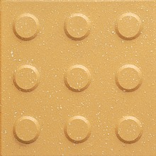 "6""X6""/ 4""x4"" Yellow Warning Rubber Look Cement Sidewalk Guiding Tactile Tiles Blind Brick Tile"