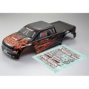 Killerbody #48212 1/10 Electric Monster Truck Finished Body Shell Rubik Flame Pattern (Printed)