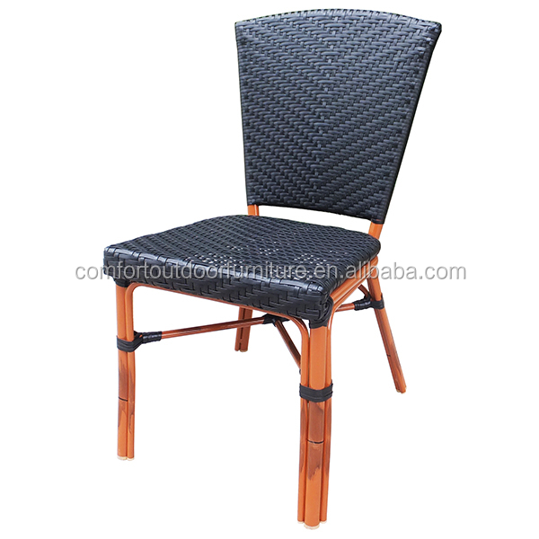 All-weather Rattan Side Chair in Black Color