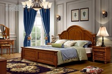 hot sale luxury classic Italian wood bedroom furniture bedroom set for adult