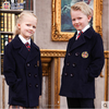 Primary school brand uniforms new design short sleeved school uniform shirt