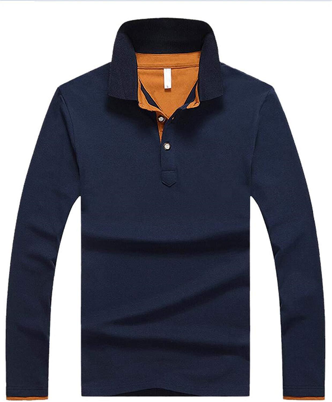 3b712f82585 Get Quotations · Richard Nguyen Men Polo Shirt Spring Autumn Long Sleeve  Polos Shirt Mens Color Block Cotton Shirt