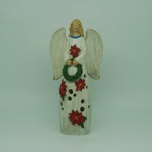 beautiful LED lighted ceramic angel for Christmas decoration
