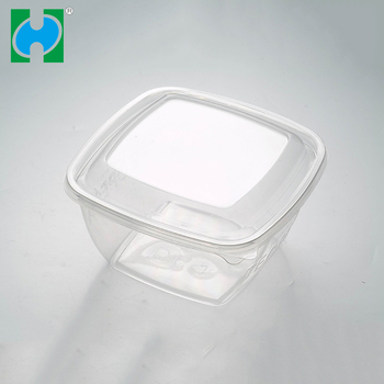 Square Plastic Fruit Salad Container salad container big