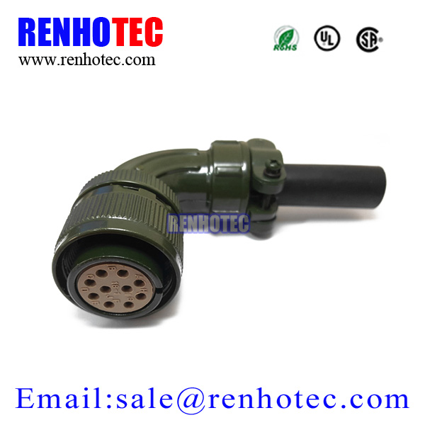 Right Angle Environmental Resistant Plug MS 5015 Series Circular MIL Connector