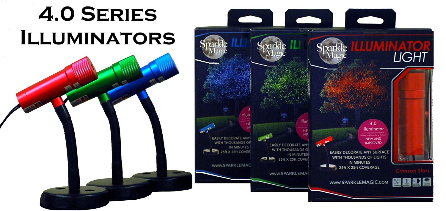 Sparkle Magic Illuminator 4.0 Series 3 Light Set Red, Green, Blue with 3 Way Connector & Extension Cable