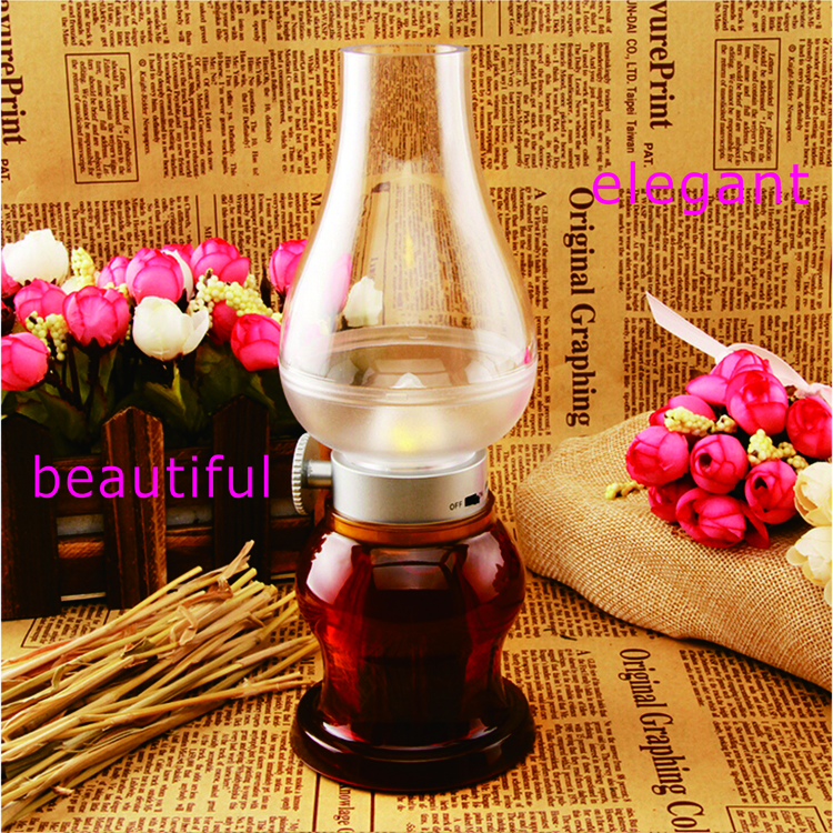 Wholesale indoor battery operated table lamp modern led oil lamp