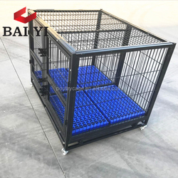 Galvanized Dog Kennel With Wheels For Dogs Cheap Sale