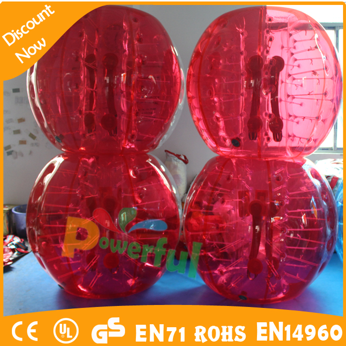 PVC <strong>human</strong> sized soccer bubble ball inflatable knocker ball for sale